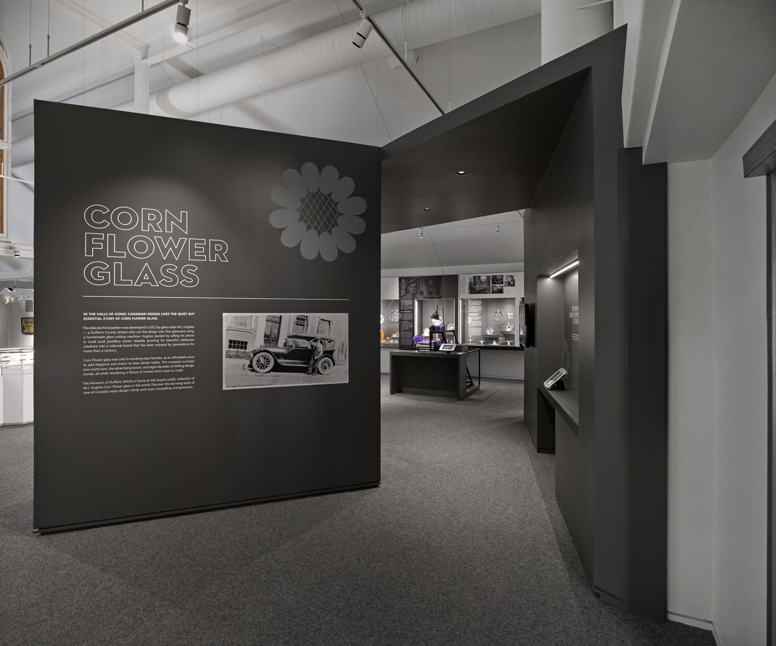 MoD Cornflower Glass Exhibit
